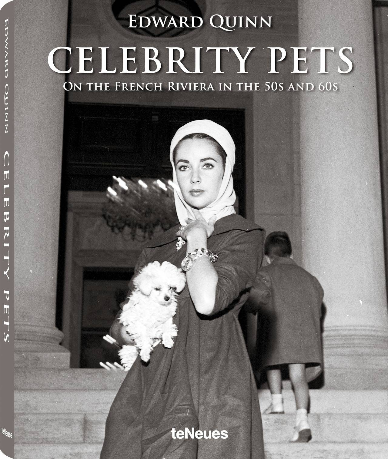 © Celebrity Pets - On the French Riviera in the 50s and 60s by Edward Quinn, published by teNeues, www.teneues.com. Elizabeth Taylor stands with one of her two Miniature Poodles in front of Villa Fiorentina. Saint-Jean-Cap-Ferrat 1957, Photo © 2014 edwardquinn.com. All rights reserved.