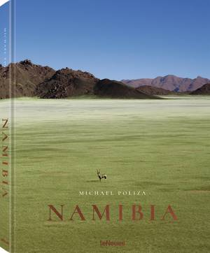 © Namibia by Michael Poliza, published by teNeues, www.teneues.com  The grassland of the NamibRand Nature Reserve stretches like a green sea against the hills of the Nubib mountain range, Photo © 2018 Michael Poliza. All rights reserved. www.michaelpoliza.com